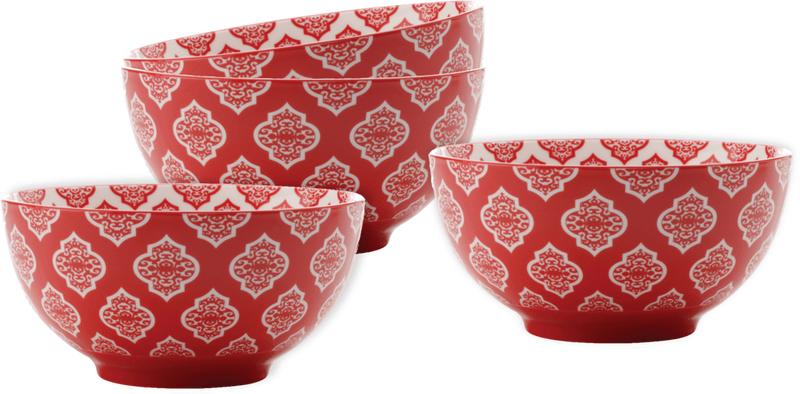 Maxwell & Williams Miska Alcazar Red Circ 15,5 cm, 4 ks