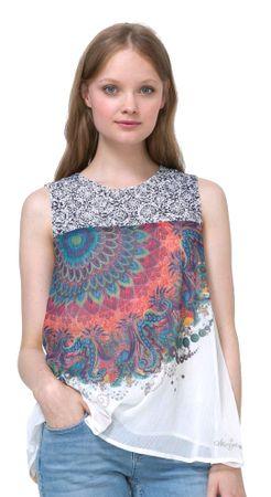 Desigual ženski top Rosa XL večbarvna