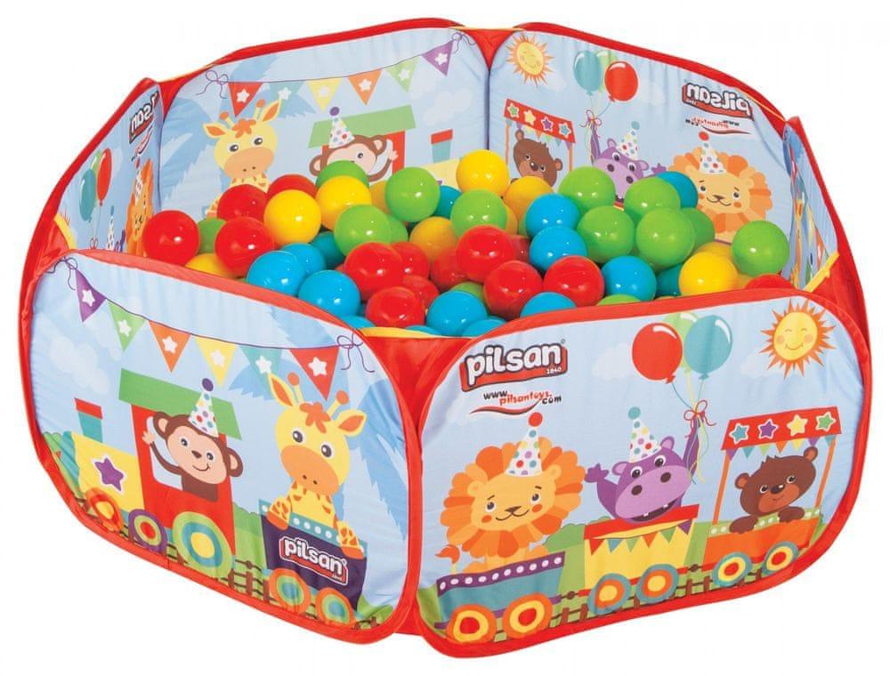Pilsan Hrací ohrádka skládací a 200 míčků