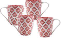 Maxwell & Williams Hrnek Alcazar Red Circ 500 ml, 4 ks