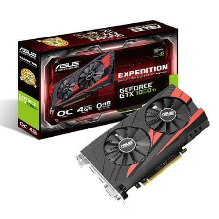 Asus grafična kartica GeForce GTX 1050 Ti Expedition OC 4GB GDDR5 (90YV0A54-M0NA00)