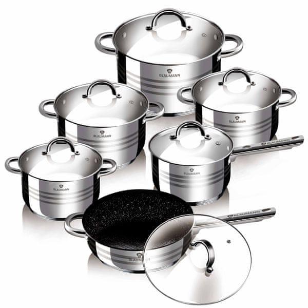 Blaumann Gourmet Line Sada nádobí nerez BL-3151 12 ks