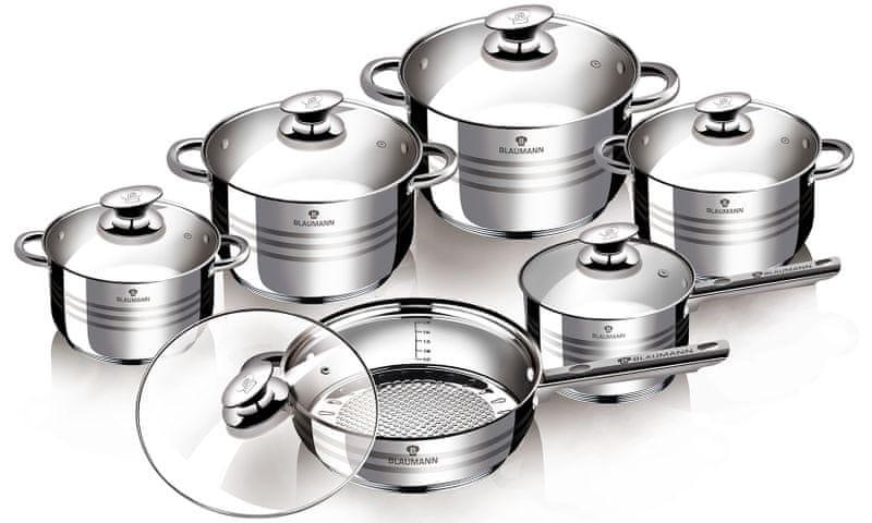 Blaumann Gourmet Line Sada nádobí nerez BL-3135 12 ks