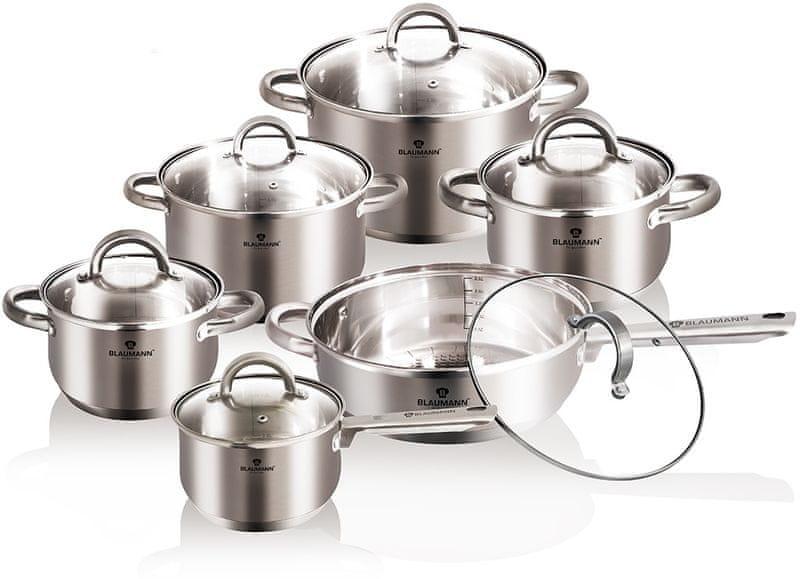 Blaumann Sada nádobí nerez 12 ks satinová