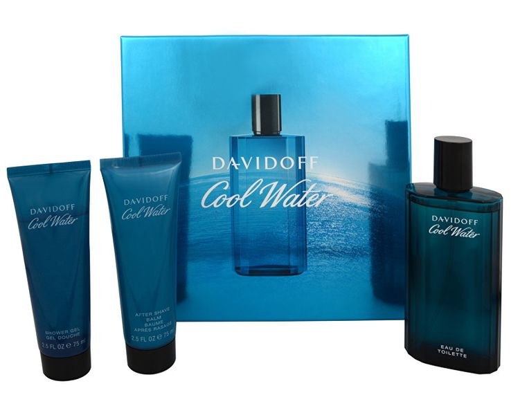 Davidoff Cool Water Man - EDT 125 ml + balzám po holení 75 ml + sprchový gel 75 ml