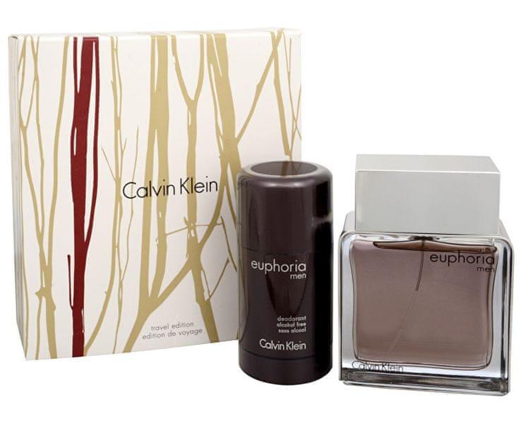 Calvin Klein Euphoria Men - EDT 100 ml + tuhý deodorant 75 ml