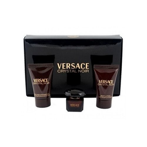 Versace Crystal Noir - EDT 5 ml + tělové mléko 25 ml + sprchový gel 25 ml