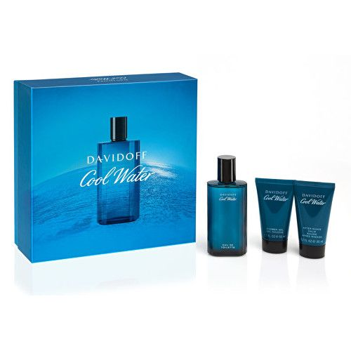 Davidoff Cool Water Man - EDT 75 ml + sprchový gel 50 ml + balzám po holení 50 ml