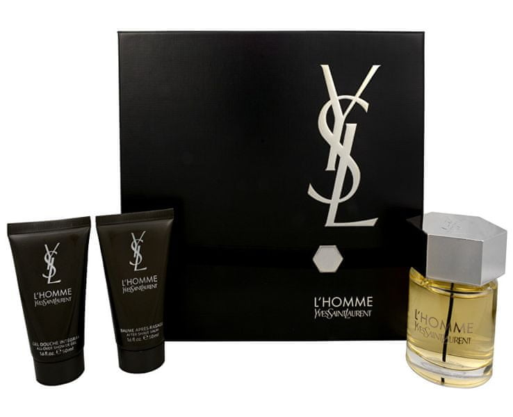 Yves Saint Laurent L´Homme - EDT 100 ml + balzám po holení 50 ml + sprchový gel 50 ml