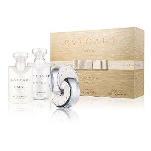 Bvlgari Omnia Crystalline - EDT 40 ml + tělové mléko 40 ml + sprchový gel 40 ml