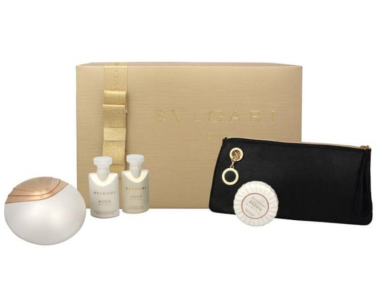 Bvlgari Aqva Divina - EDT 65 ml + tělové mléko 40 ml + sprchový gel 40 ml + mýdlo 50 g + kosmetická taška