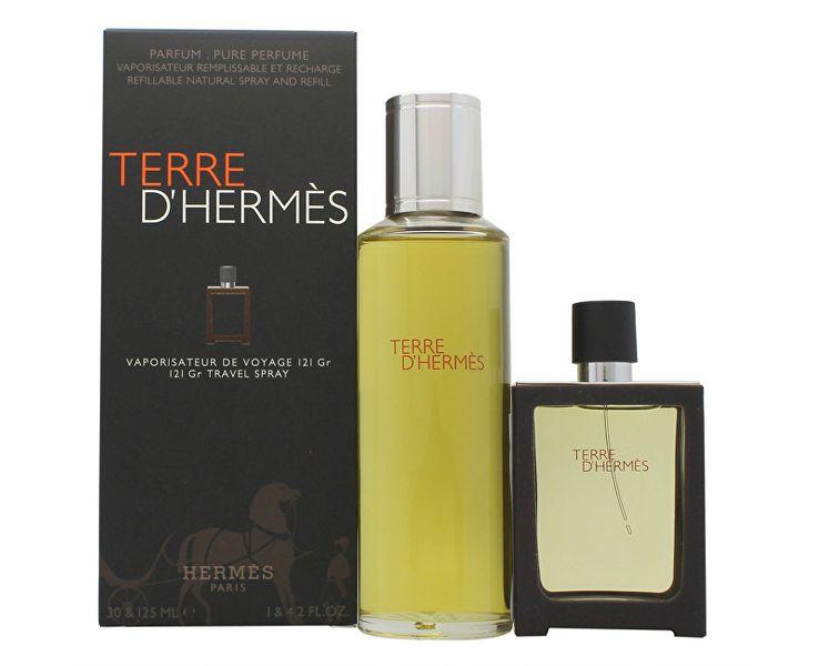 Hermès Terre D´ Hermes - parfém 30 ml (plnitelný) + náplň 125 ml
