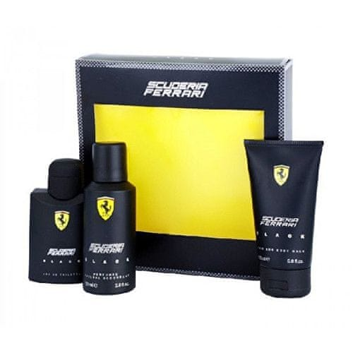 Ferrari Scuderia Black - EDT 125 ml + deodorant ve spreji 150 ml + sprchový gel 150 ml