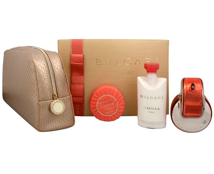 Bvlgari Omnia Coral - EDT 65 ml + tělové mléko 75 ml + mýdlo 75 g + kosmetická taška