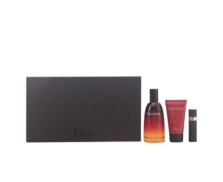 Dior Fahrenheit - EDT 100 ml + sprchový gel 50 ml + EDT 3 ml