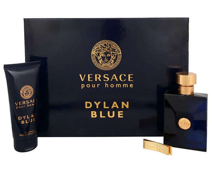 Versace Pour Homme Dylan Blue - EDT 100 ml + sprchový gel 100 ml + spona na bankovky