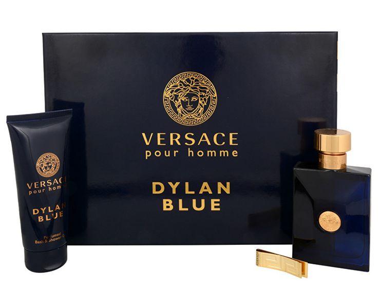 Versace Pour Homme Dylan Blue - EDT 100 ml + sprchový gel 100 ml + spona na bankovky