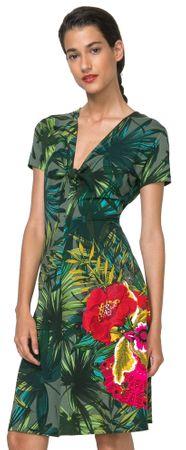 Desigual dámské šaty Maroni XS zelená