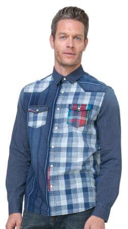 Desigual moška srajca Harrisburg S modra