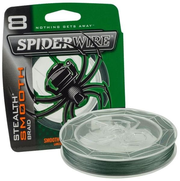 Spiderwire Splétaná šňůra Stealth Smooth 8 150 m zelená 0,14 mm, 12,5 kg
