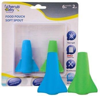 Cherub Baby Netekoucí savičky na přesnídávky, 2 ks - modrá/zelená