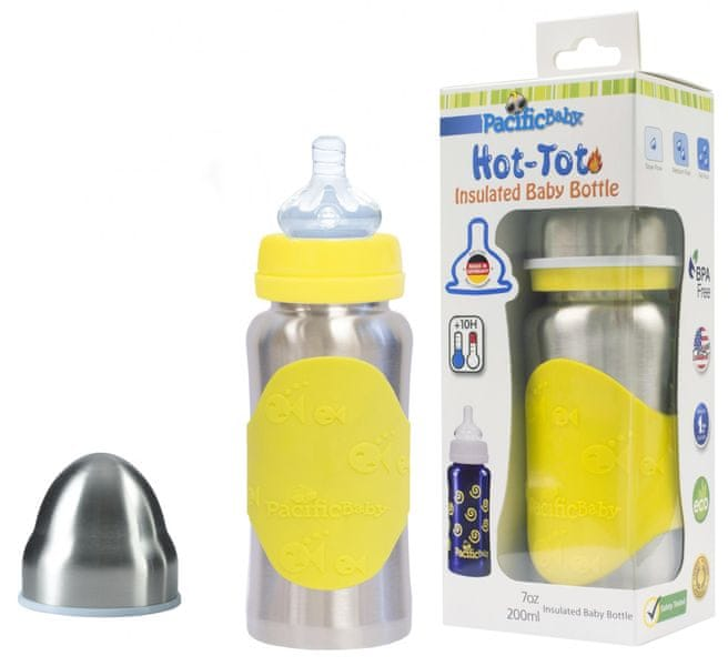 Pacific Baby Hot-Tot termoska 200 ml - žlutá/stříbrná