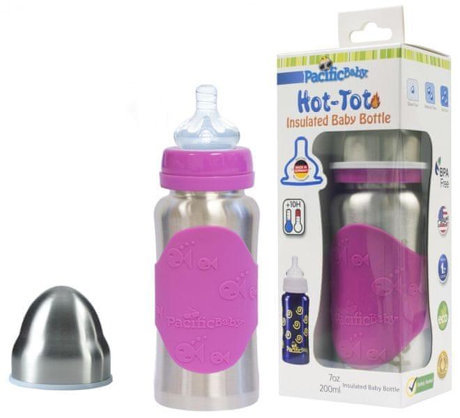 Pacific Baby Hot-Tot termoska 200 ml - růžová/stříbrná