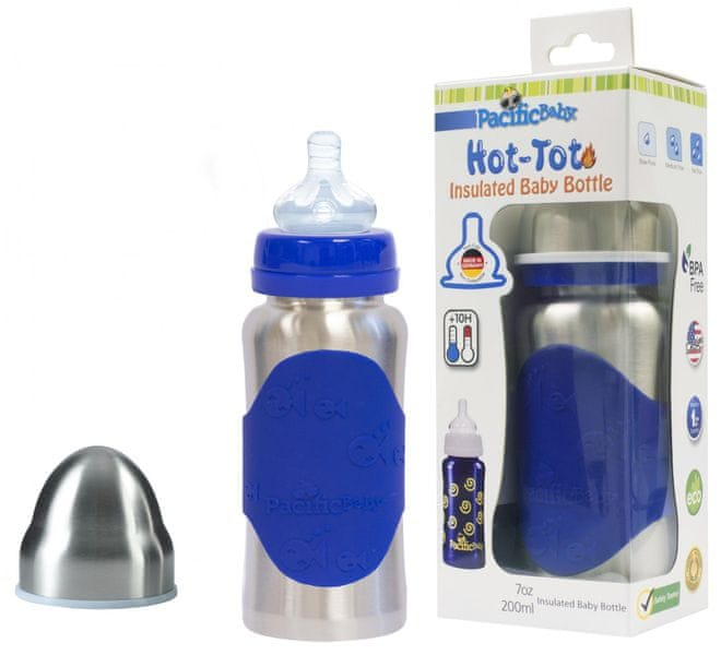 Pacific Baby Hot-Tot termoska 200 ml - modrá/stříbrná
