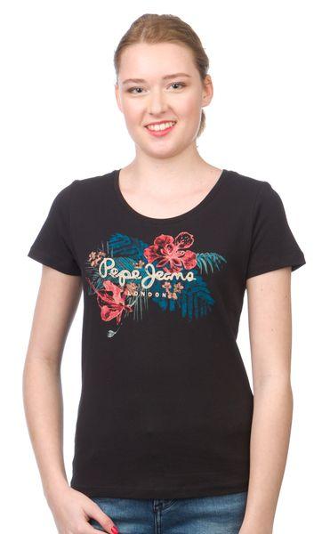Pepe Jeans dámské tričko Amber M černá