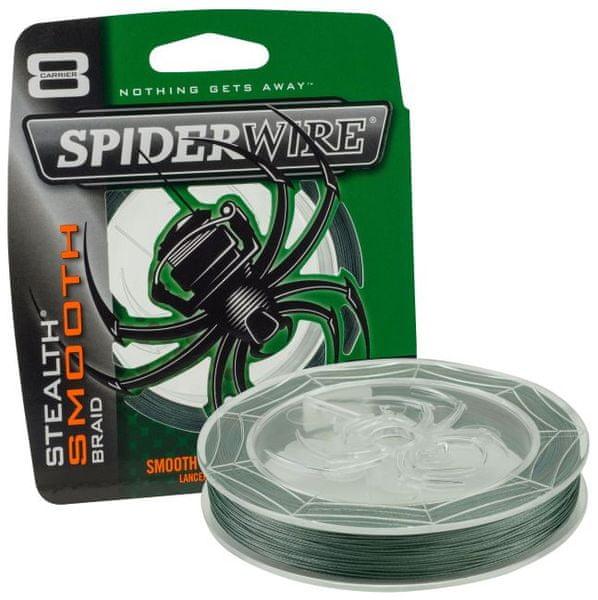 Spiderwire Splétaná šňůra Stealth Smooth 8 150 m zelená 0,06 mm, 6,6 kg