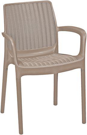 KETER BALI MONO Kerti szék, 6 db, Cappuccino