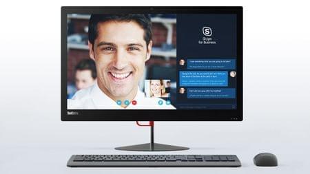 Lenovo AiO računalnik ThinkCentre X1 i5-6200U/8GB/256SSD/23,8FHD/W10P (10KE001BZY)