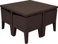 Allibert 5-delni komplet stolov in mize Columbia, z blazinami
