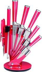 Alpina 41293 Sada nožů s otočným stojanem červená 7 ks