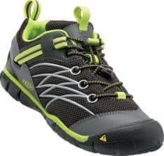 KEEN pohodniški čevlji Chandler Cnx K, črni/zeleni