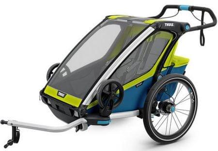 Thule športni voziček Chariot Sport2, modro-zelen