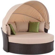Home&Garden sofa ogrodowa z baldachimem Sydney - Brown / Taupe