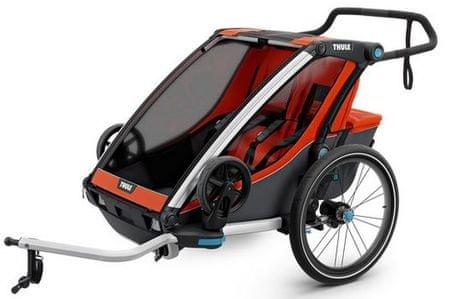 Thule športni voziček Chariot Cross2, oranžen