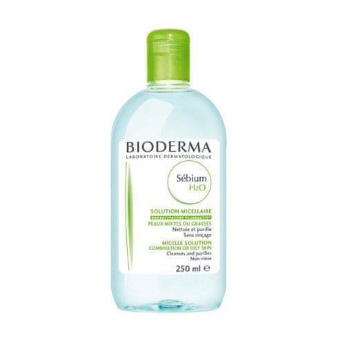 Bioderma Čisticí pleťová voda pro mastnou pleť Sebium H2O (Solution Micellaire) (Objem 250 ml)