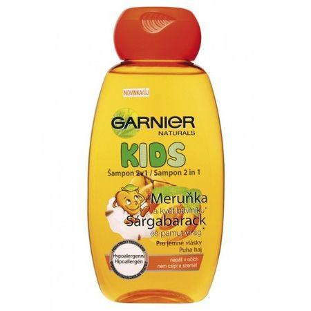 Garnier Šampón s vôňou marhule 2 v 1 Natural Kids 250 ml