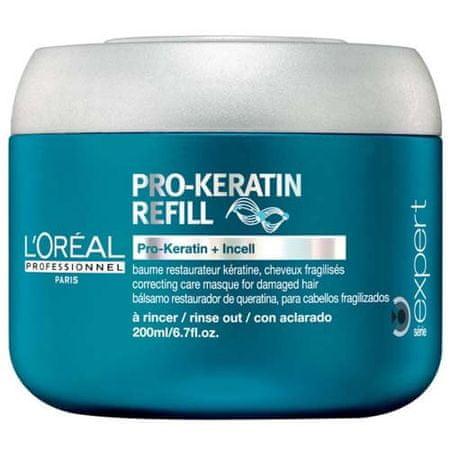 Loreal Professionnel Keratínová maska pre poškodené vlasy Pro-Keratín Refill (Correcting Care Masque) (Objem 200 ml)