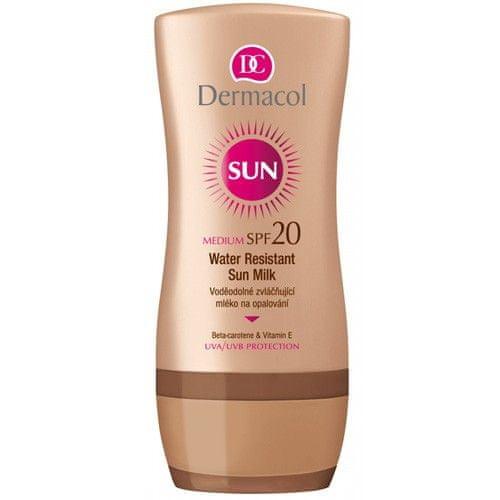 Dermacol Voděodolné zvláčňující mléko na opalování SPF 20 Sun (Water Resistant Sun Milk) 200 ml