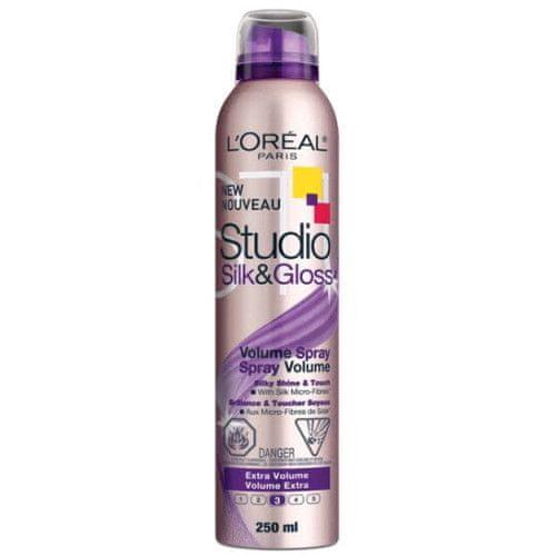 L'Oréal Objemový sprej na vlasy Studio Line (Silk&Gloss Volume Spray) 250 ml
