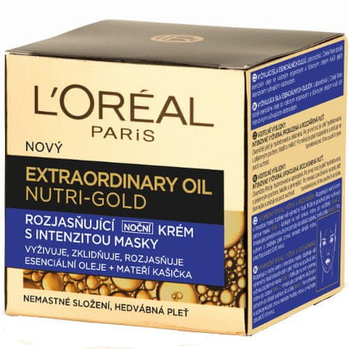 L'Oréal Rozjasňující noční krém s intenzitou masky Nutri Gold (Extraordinary Oil Face) 50 ml