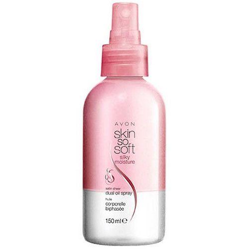 Avon Zvláčňující hedvábný dvousložkový olej ve spreji Skin so Soft (Silky Moisture Dual Spray) 150 ml