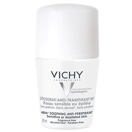 Vichy Deodorant-Antiperspirant 48h roll-on pro citlivou nebo depilovanou pokožku (Soothing Anti-Perspirant