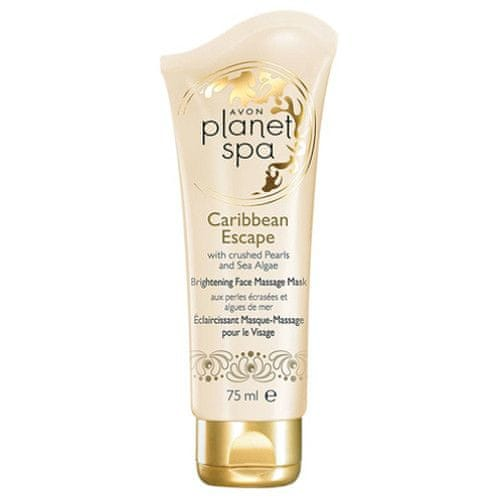Avon Rozjasňující pleťová masážní maska s výtažky z Perel a Mořských Řas Planet Spa Caribbean Escape 75 m