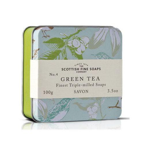 Scottish Fine Soap Mýdlo v plechu Zelený čaj 100 g