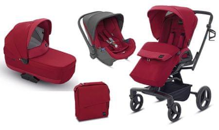 Inglesina otroški voziček 3v1 Quad, rdeč