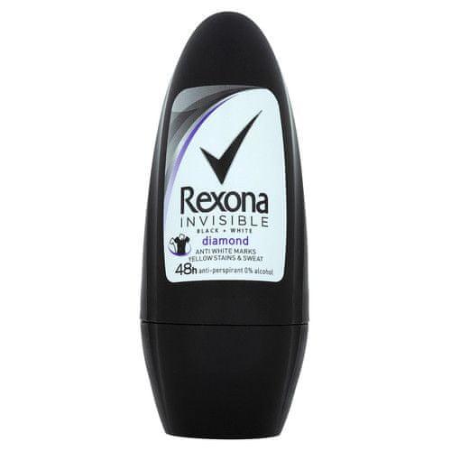Rexona Antiperspirant roll-on Invisible Black+White Diamond 50 ml